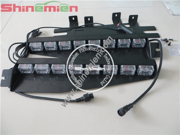 strobe light led split visor light emergency vehicle strobe lights. Black Bedroom Furniture Sets. Home Design Ideas