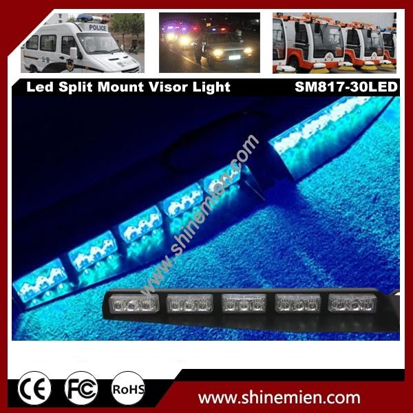 30led Emergency Led Warning Strobe Visor Light Split Mount
